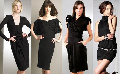 Черное платье коктейльное платье
