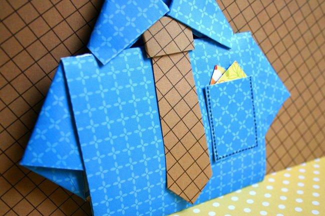 Как сделать поделки из бумаги папе