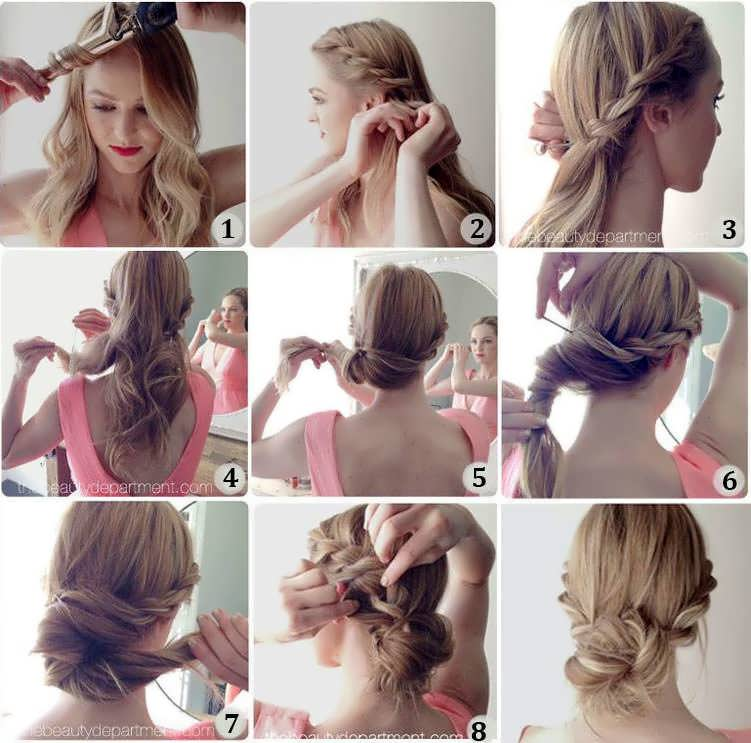 Как сделать модную причёску из длинных волос 168