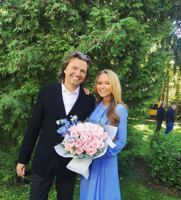 Дмитрий Маликов с дочкой