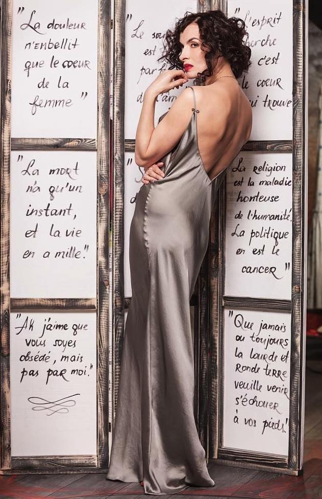 фото грановская в белом платье