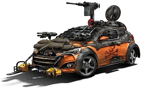 Veloster Zombie Survival Machine