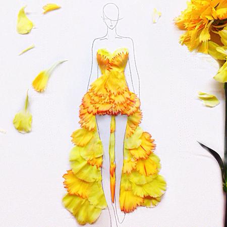 Нарисованные платья на моделях
