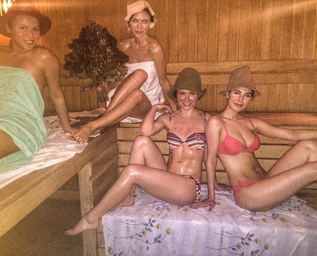 Вика НеАнгелы в бане