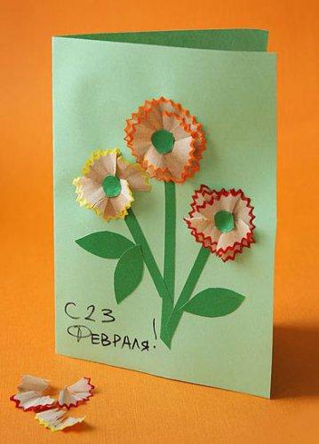 открытки на 23 февраля, открытки своими руками