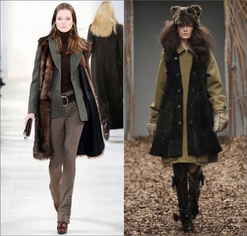 Мода осень зима 2012 2013 меховые жилетки